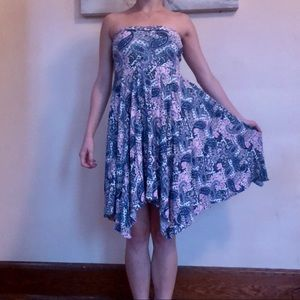 Express Strapless Cotton Dress